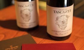 Tascante bottles of Etna red from Sicily