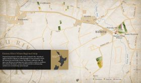 Map of Kumeu and NZ wine producer Kumeu River's local vineyards