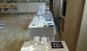 Tables for the press at Waitrose tasting autumn 2020