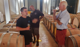 Barrel tasting 2020s at Ch St-Jacques d'Albas