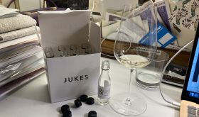 Lea & Sandeman 2019 burgundy samples in a Jukes box