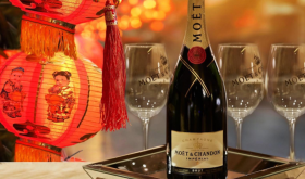 Moet bottle with lunar new year info