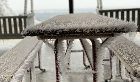 Ice-covered porch in Texas